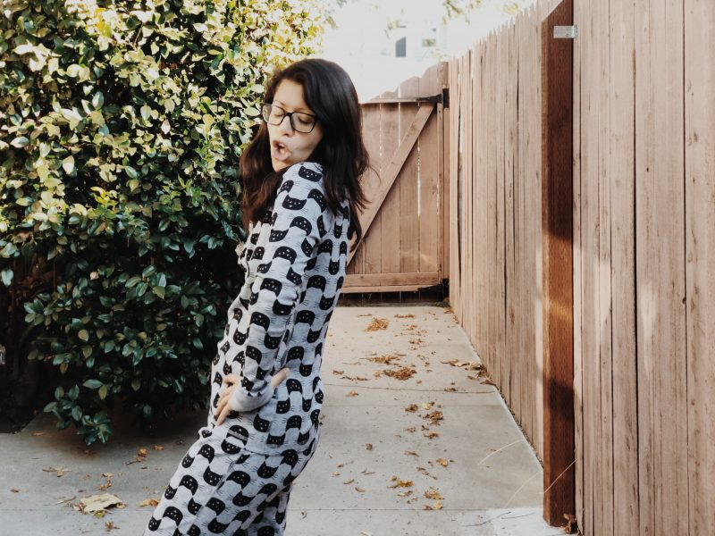 Imperfect perfectionist Sabrina in PJs